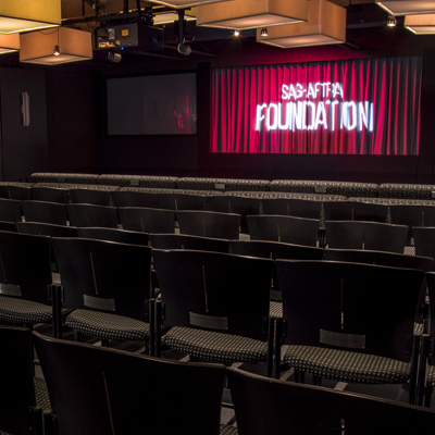 Screening Room With Three Projectors and 120 seats - Photo by Jacob Kauffman