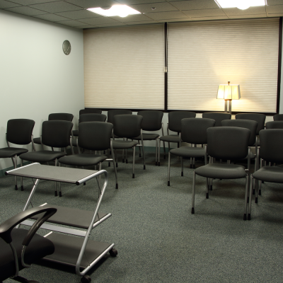 Classroom, which seats 20 can be configured for seminars. Photo by Casey E. Lewis.