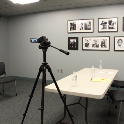 The classroom can accommodate casting sessions. Camera and tripod must be supplied by renter. Photo by Casey E. Lewis.